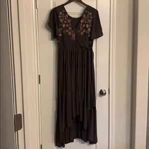 💕Floral boho dress asymmetrical hem